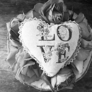 love heart pillow