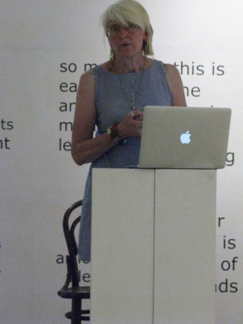Artist and academic Davina Kirkpatrick presents at the Small Literary festival organised by alldaybreakfast.org at The galleries, Bristol