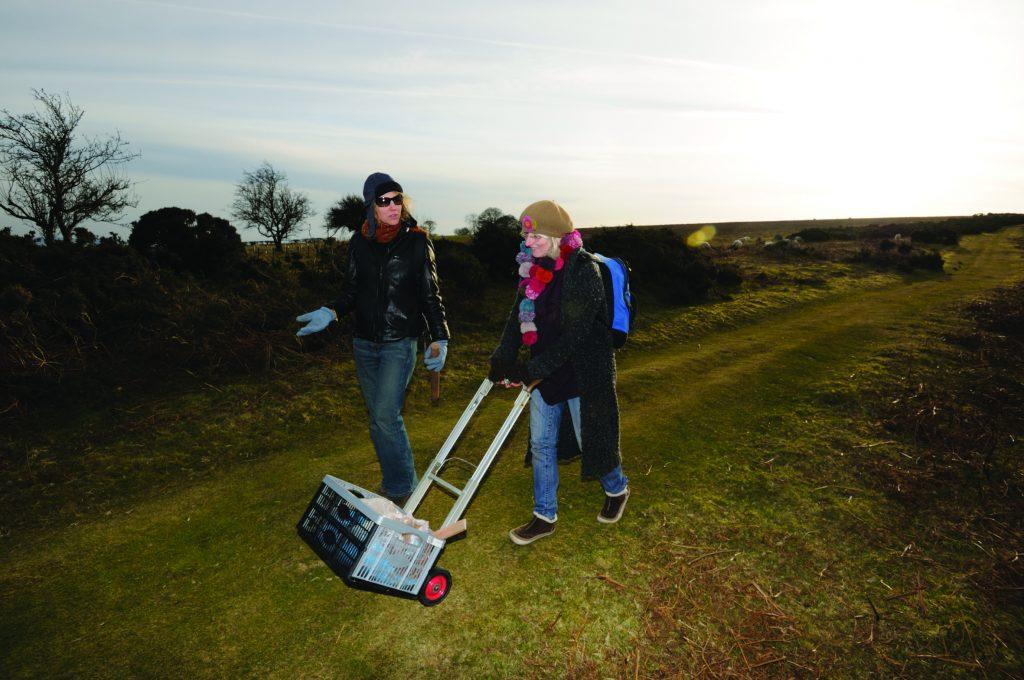 Christine Baeumler and davina Kirkpatrick on the Hergest Ridge