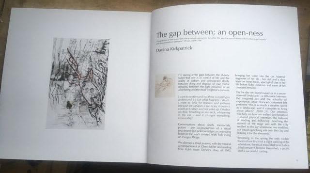 The gap between chapter in book between ineffable intervals