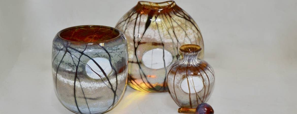 Selection of three Siddy Langley Supermoon pieces