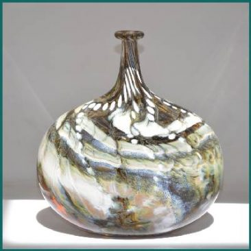 Bladderwrack flask inspired by seaweed on a harbour wall