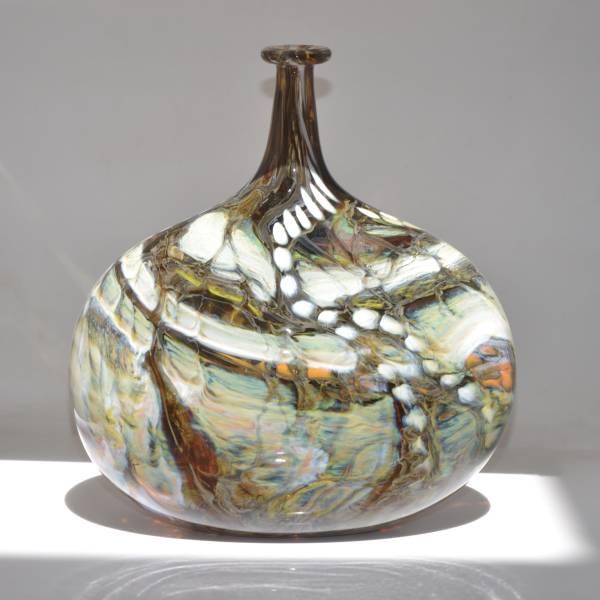 Large flask inspired by bladderwrack seaweed